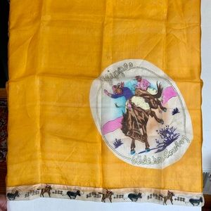 Vintage 1950s scarf Cowboy Yippie
